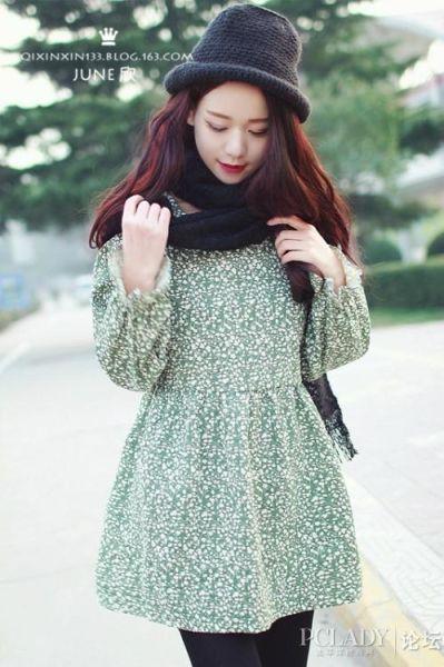 绿色的小裙子