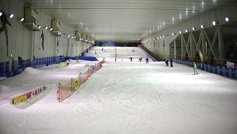 熊津游乐城室内滑雪场