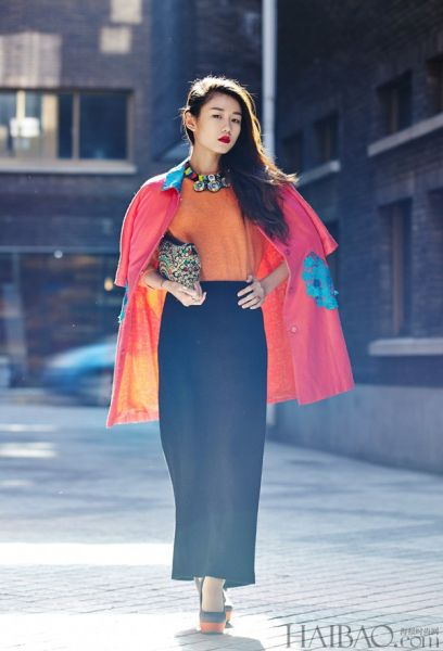 组图 中国风刺绣外套搭配旗袍让你复古味十足