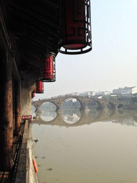 运河 古镇 石拱桥