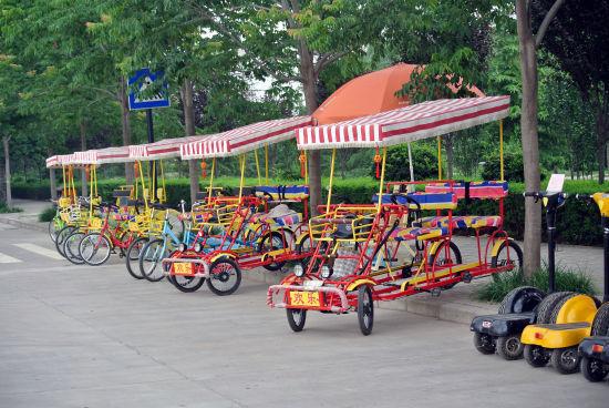 样式繁多的自驾车