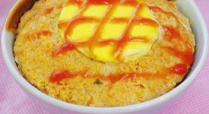 鲜蛋黄蒸肉饼