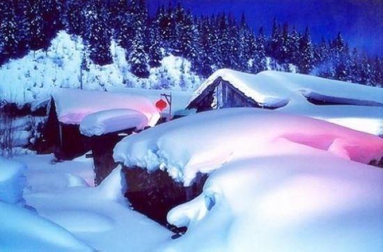组图:冬日雪地里撒欢寻找东北雪乡的纯白之地