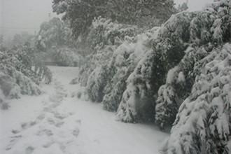 山区道路积雪严重已封道