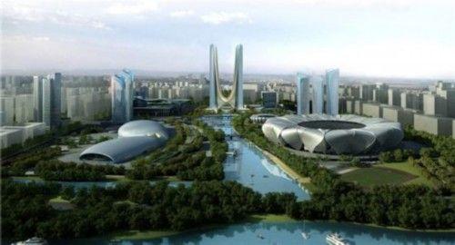 杭州奥体博览城,倒裤衩楼和比基尼楼