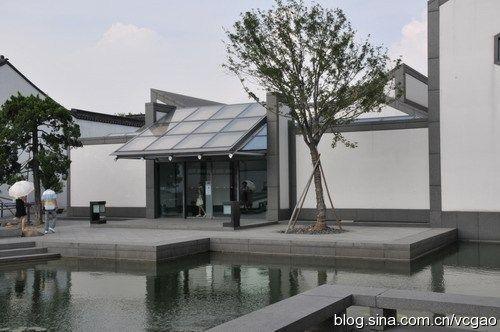 组图:苏州博物馆隐于园林中的现代山水美景