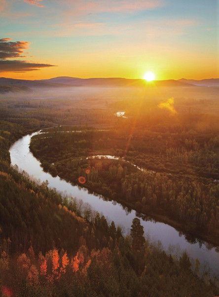 组图:一路向北看漠河落日追寻中国最北的太阳