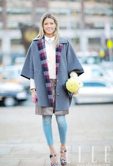 2014秋冬纽约时装周街拍 摇摆足尖秀出美丽