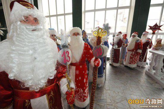 """圣诞老人与雪少女""""选美"""