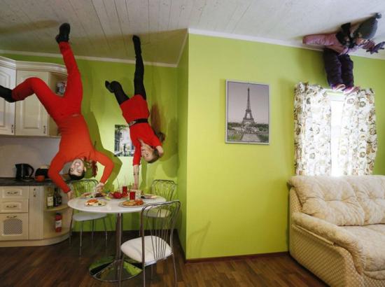 在俄国,这种房子是首次出展