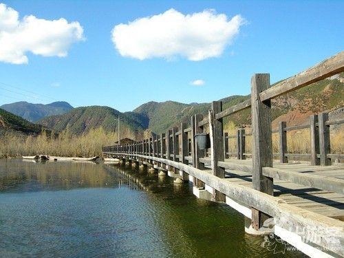 泸沽湖的风光
