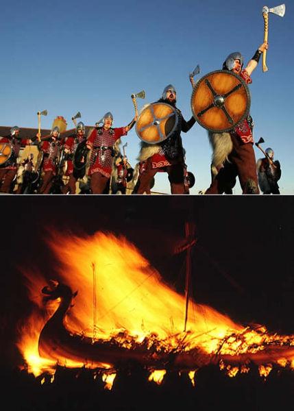 苏格兰设德兰群岛圣火节