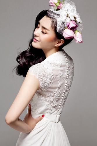 新娘瘦脸发型