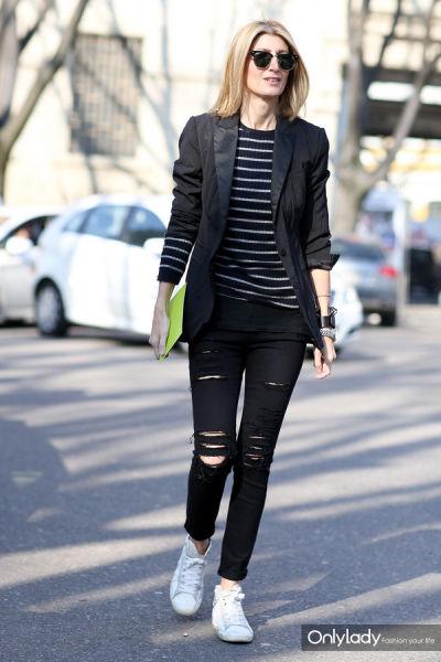 组图:运动鞋也疯狂早春时尚街头潮人出位季