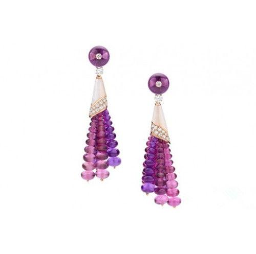 2014年珠宝流行色新娘最爱璀璨兰花紫