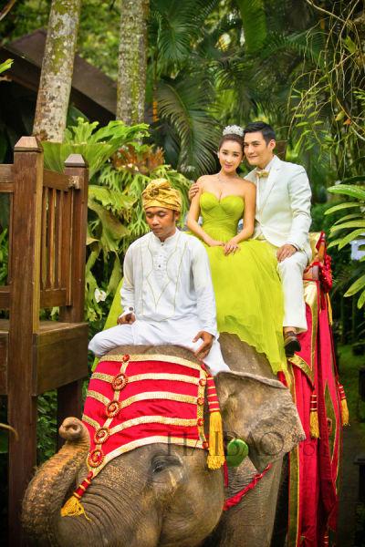 严屹宽、杜若溪在巴厘岛举行梦幻婚礼