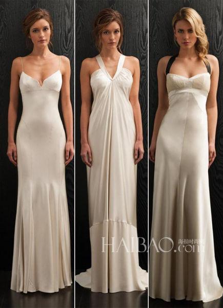简约婚纱中的柔美细节打造现代风格新娘