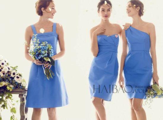 礼服手绘图 蓝色