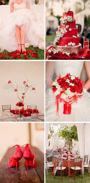 户外主题婚礼最美不过一抹红