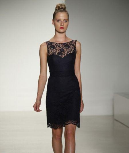 盘点黑色优雅礼服更显新娘轻柔飘逸气质