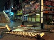 广东茂名市区公共设施遭闹事者破坏