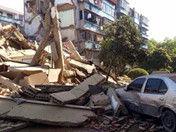 宁波奉化一幢5层居民房倒塌部分居民被埋