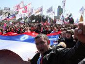 乌亲俄示威者冲击政府大楼