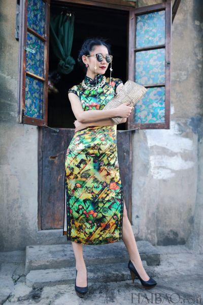 组图:达人完美示范传统旗袍也能穿出时尚感
