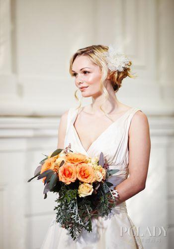 美丽新娘的复古妆容写真打造完美新人
