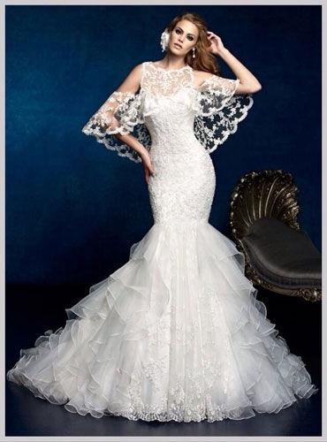 梦幻系面料打造唯美新娘的婚纱礼服(组图)