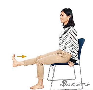组图:简单椅子操帮你轻松打赢下半身瘦身战