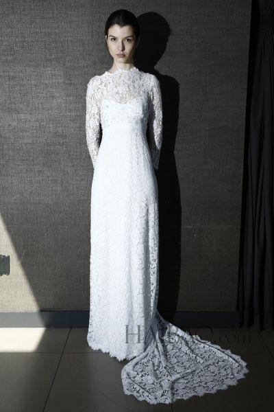 简约的春夏婚纱混杂着古典与流行趋势元素