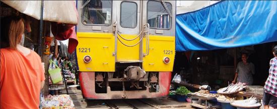 曼谷特色,铁道菜市场