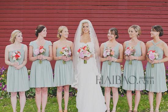 乡村风格户外婚礼 新娘watters婚纱中的复古情怀