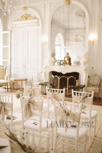 品味优雅法式婚礼感受雨后如画美景的温馨浪漫