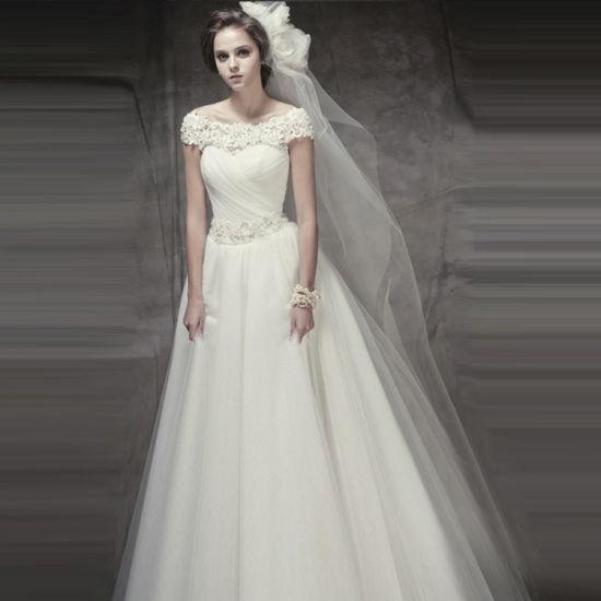 优雅格调的韩式婚纱展现新娘最真实的美