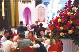 5月1日,宁波香格里拉大酒店,一场婚宴正在举行