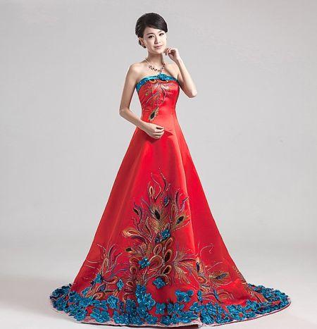 中国传统复古旗袍国内新娘的专属美艳嫁衣