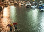 深圳降2008年来最强暴雨民众当街捉鱼