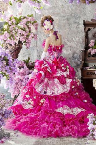 组图:花仙子般的日系婚纱花团锦簇的幸福感