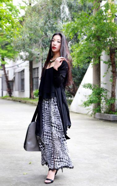 组图:包公子五月搭配日志浪漫黑白色显时髦