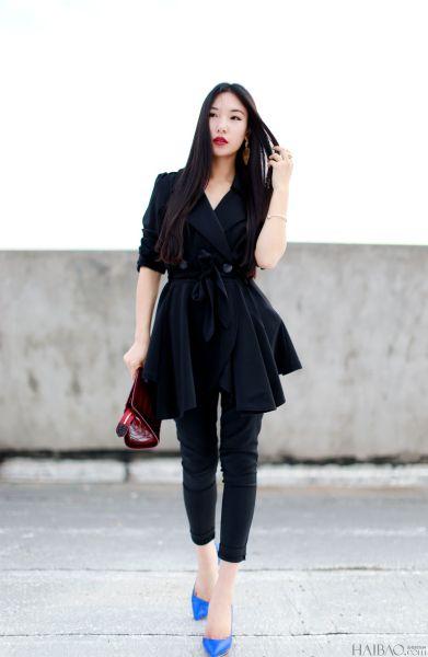 达人完美示范传统黑色系搭配也能穿出新鲜范