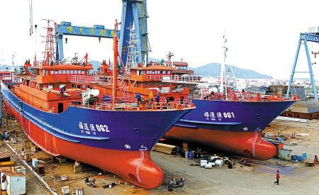 鹤浦造船业转攻远洋渔船