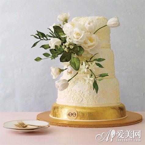 个性鲜花婚礼蛋糕和爱情一起完美绽放(组图)
