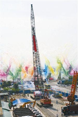 2009年6月26日,轨交1号线一期工程正式动工 记者 张培坚 摄