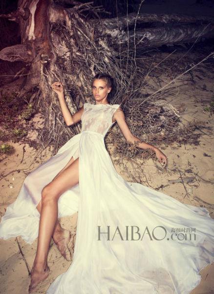 Martinez2014新娘礼服系列用蕾丝构筑奢华