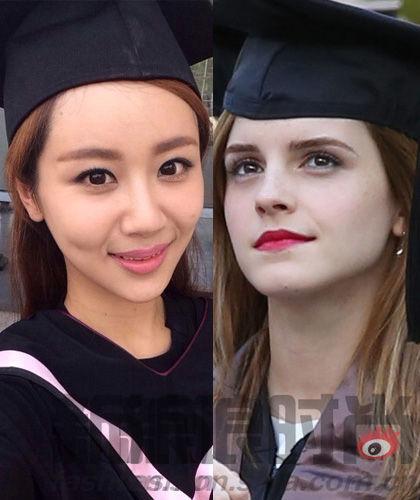 组图:艾玛杨紫示范纯美毕业妆教你一秒变校花