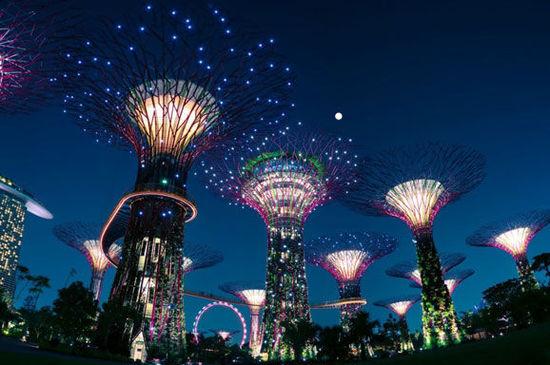 绝对值得打飞的观赏的新加坡妩媚夜景(组图)
