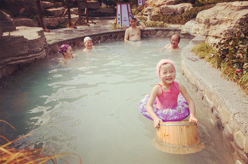 云曼温泉里的童真体验