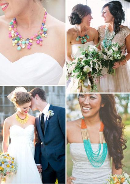 婚礼上出彩的宣誓珠宝项链时尚大气的饰品